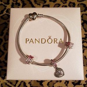 Authentic Pandora TREE OF LOVE gift set